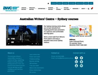 sydneywriterscentre.com.au screenshot
