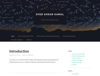 syedahsankamal.wordpress.com screenshot