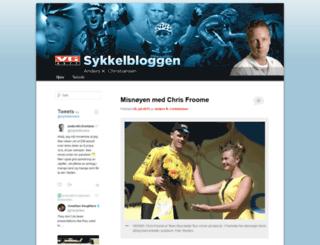 sykkelbloggen.vg.no screenshot
