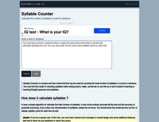 syllablecounter.net screenshot