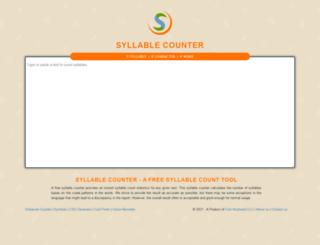 syllablecounter.org screenshot