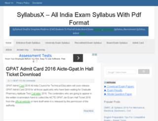 syllabusx.in screenshot