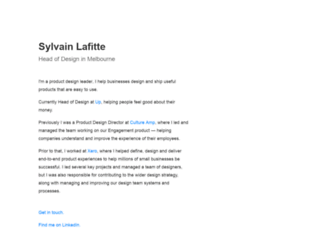sylvainlafitte.com screenshot
