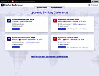 symfony-live.com screenshot