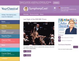 symphonycast.publicradio.org screenshot