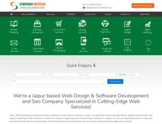 symphonyinfotech.co.in screenshot