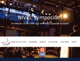 symposium.nivel.nl screenshot