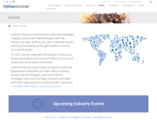 symposium.uptimeinstitute.com screenshot