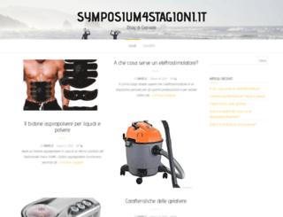 symposium4stagioni.it screenshot