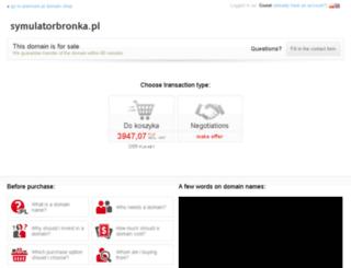 symulatorbronka.pl screenshot