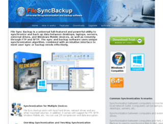 sync-backup.com screenshot