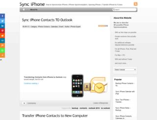 sync-iphone.com screenshot