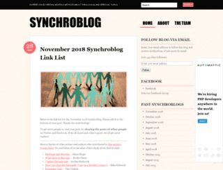 synchroblog.wordpress.com screenshot