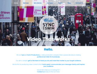 syncorswimproductions.com screenshot