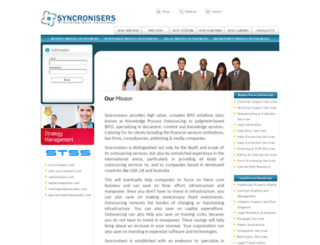 syncronisers.com screenshot