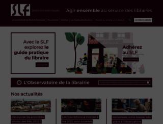 syndicat-librairie.fr screenshot
