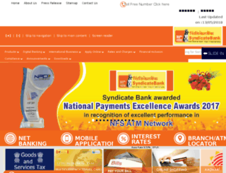 syndicatebank.com screenshot