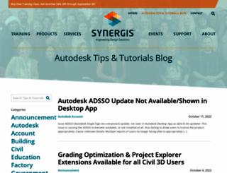 synergiscadblog.com screenshot