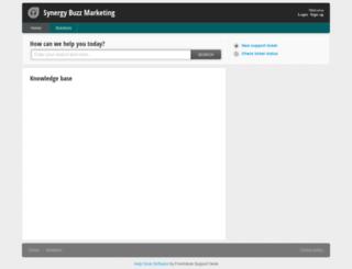 synergybuzzmarketing.freshdesk.com screenshot