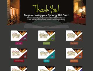 synergygiftcard.com screenshot