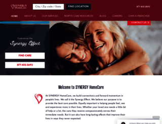synergyhomecare.com screenshot
