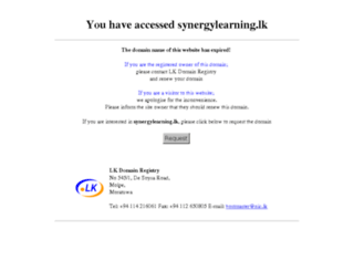synergylearning.lk screenshot