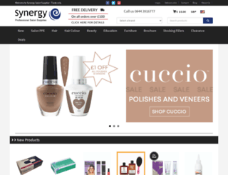 synergysalonsupplies.com screenshot