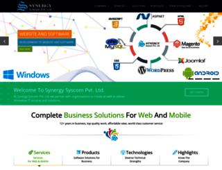 synergysoftwares.biz screenshot