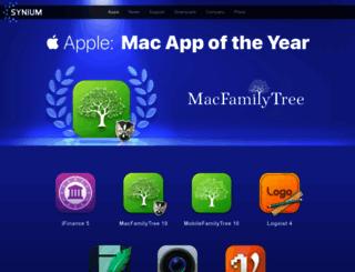 syniumsoftware.com screenshot
