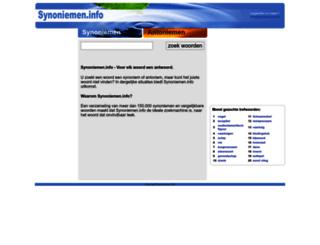 synoniemen.info screenshot