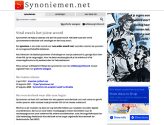 synoniemen.net screenshot