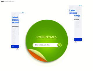 synonymes.com screenshot