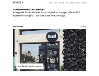 syntaxdesign.com screenshot