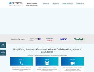 synteltelecom.com screenshot