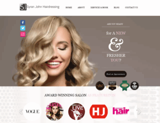 syranjohnhairdressing.com screenshot