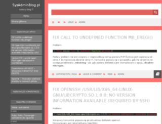 sysadminblog.pl screenshot