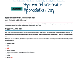 sysadminday.com screenshot