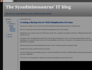 sysadminosaurus.blogspot.ro screenshot