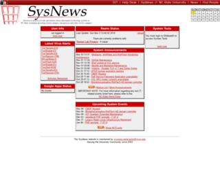 sysnews.ncsu.edu screenshot