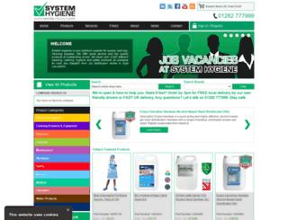 systemhygiene.co.uk screenshot