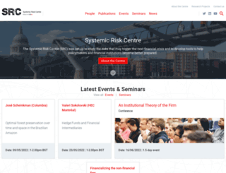 systemicrisk.ac.uk screenshot