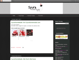 syurahomemade.blogspot.com screenshot