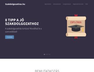 szakdolgozatiras.hu screenshot