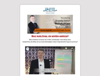 szkolenie-powieksz-biznes.zlotemysli.pl screenshot