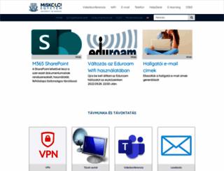 szociologiaszak.uni-miskolc.hu screenshot