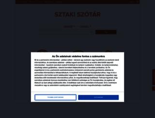 szotar.sztaki.hu screenshot