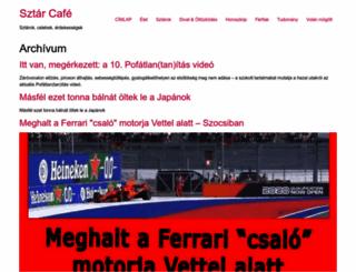 sztarcafe.com screenshot