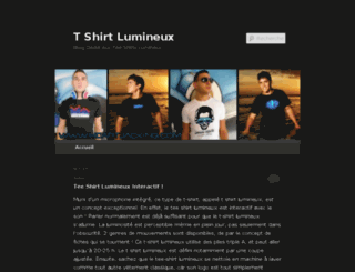 t-shirt-lumineux.com screenshot
