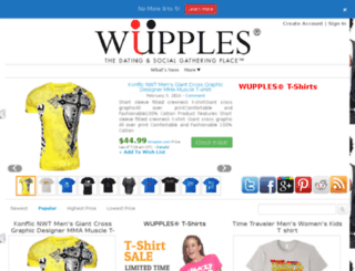 t-shirts.wupples.com screenshot