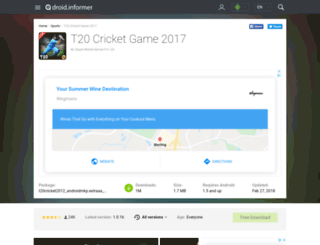 t20-cricket-game-2017.droidinformer.org screenshot